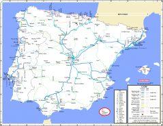 Mapa De La Peninsula.Maps Iberian Peninsula