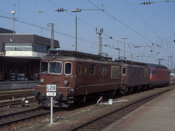 BLS and SBB locos at Basel Badischer Bahnhof