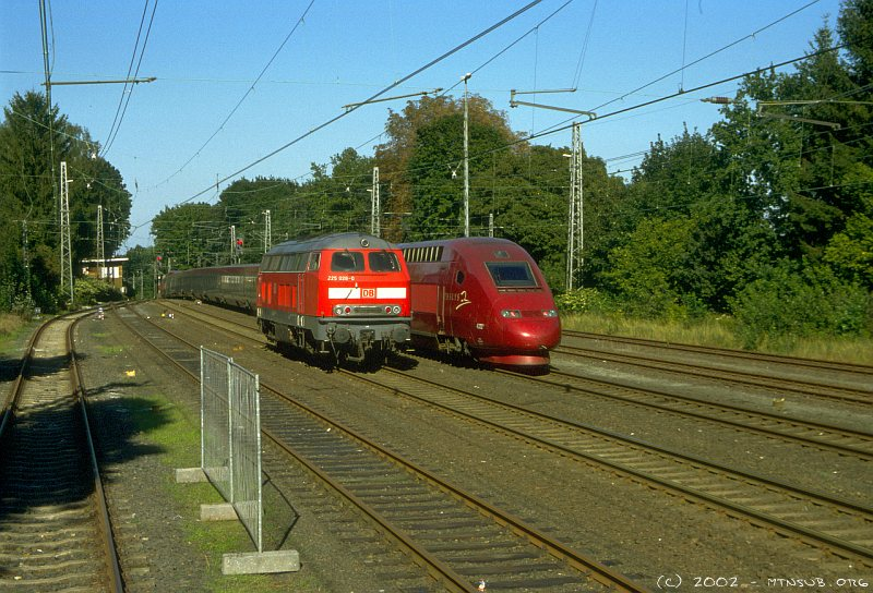 Thalys meeting class 225 in Aachen-Süd
