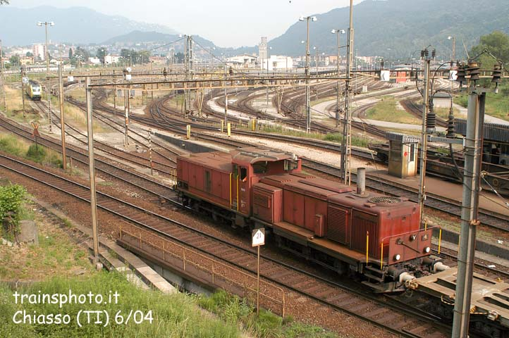Unknown diesel loco at Chiasso