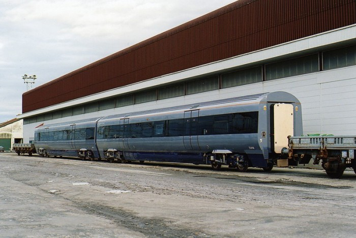 new trainset at Henday freight workshop