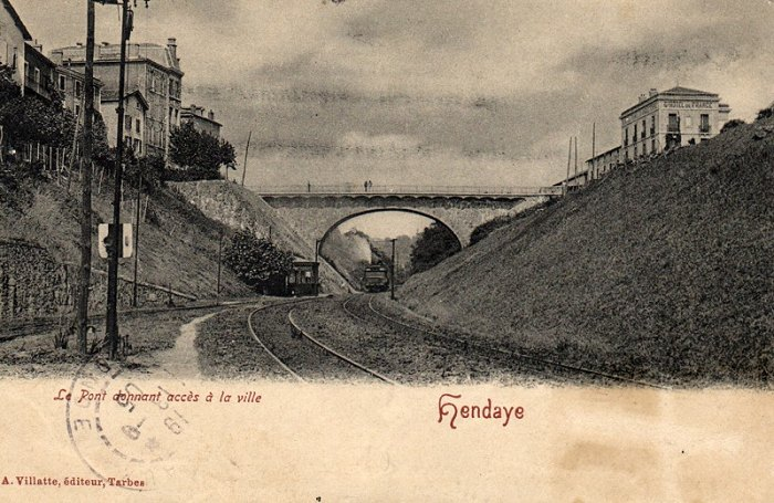 Historic view of Hendaye station