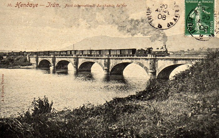 Historic impression of international bridge