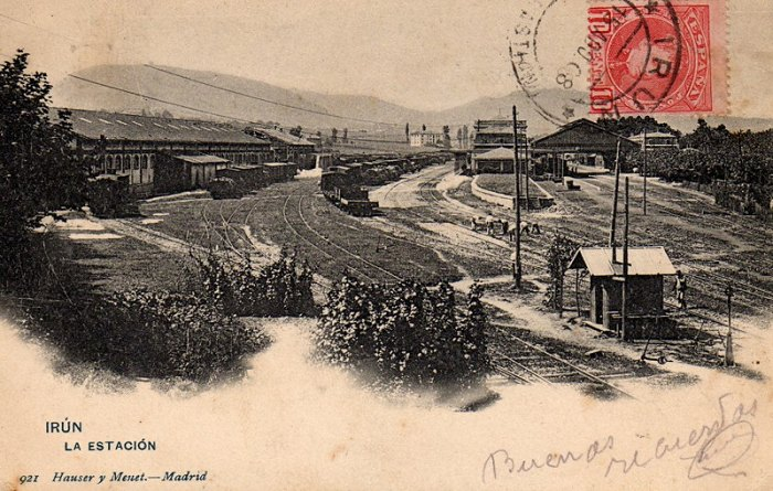 Historic view of Irún station