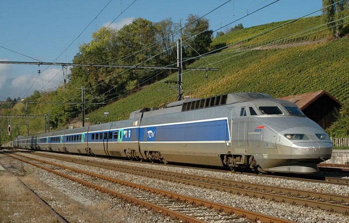 TGV passing La Plaine