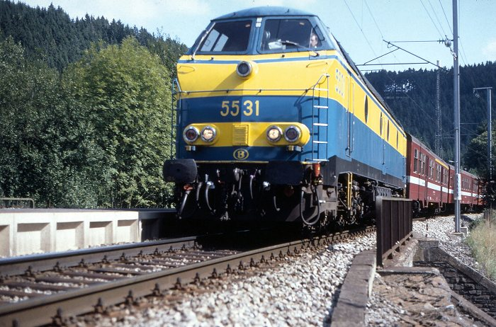 SNCB 5531 at Maulusmühle