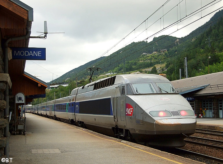 TGV unit 4503 at Modane