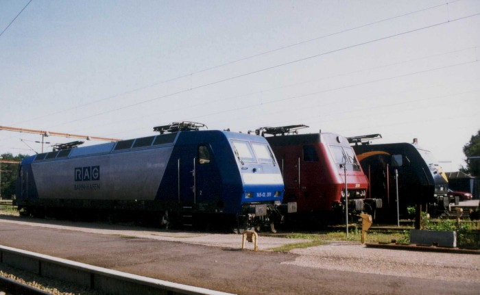 Parade of several locomotives