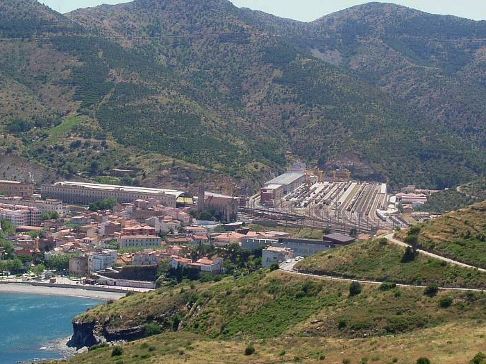 Panoramic view of Port-Bou
